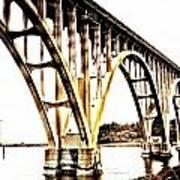 Yaquina Bay Bridge - Series G Art Print