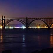 Yaquina Bay Bridge At Night Art Print