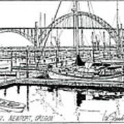 Yaquina Bay Newport Oregon Art Print