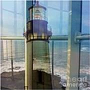 Yaquina Head Lighthouse Mirage  Art Print