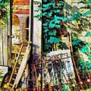 Yard Sale Antiques - Horizontal Art Print