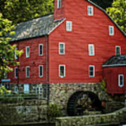Ye Old Red Mill Art Print by Wayne Gill