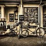 Ye Olde Sweet Shoppe Sepia Art Print