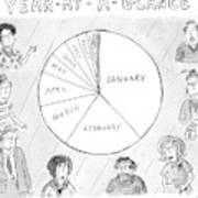Year At A Glance--a Pie Chart Of The Months Art Print