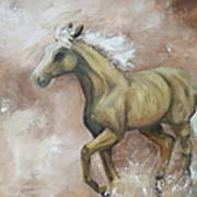 Yearling In Storm Art Print