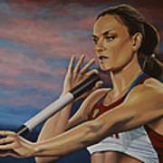 Yelena Isinbayeva   Art Print by Paul Meijering