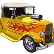 Yellow 1928 Hotrod Pickup Truck  Art Print