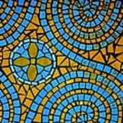 Yellow And Blue Mosaic Art Print