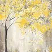 Yellow And Gray Tree Art Print
