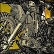 Yellow And Metal Art Print
