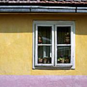 Yellow And Pink Facade. Belgrade. Serbia Art Print