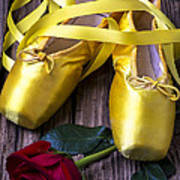 Yellow Ballet Shoes Art Print