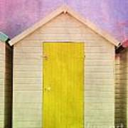 Yellow Beach Hut Art Print