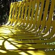Yellow Bench Art Print