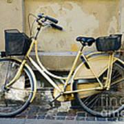 Yellow Bicycle In Copenhagen Art Print