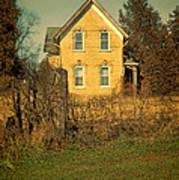 Yellow Brick Farmhouse Art Print