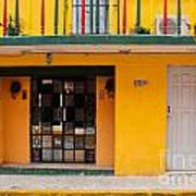 Yellow Buidling Mexico Art Print