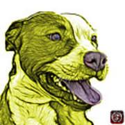 Yellow Bull Fractal Pop Art - 7773 - F - Wb Art Print