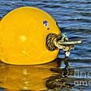 Yellow Buoy Art Print