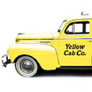 Yellow Cab Square Art Print