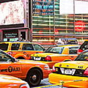 Yellow Cabs Art Print
