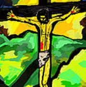 Yellow Christ  After Gauguin Art Print