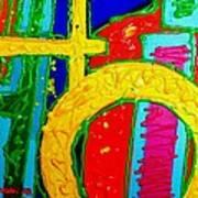 Yellow Circle Art Print