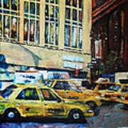 Yellow Congestion Art Print
