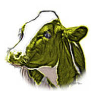 Yellow Cow Holstein - 0034 Fs Art Print