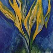 Yellow Crystal Star Art Print