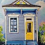Yellow Door Shotgun  Art Print
