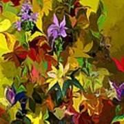 Yellow Fantasy Flower Garden Art Print