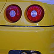 Yellow Ferrari Tail Lights Art Print