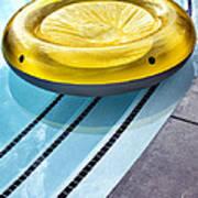 Yellow Float Palm Springs Art Print