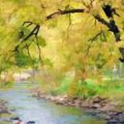 Yellow Flow Art Print