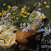 Yellow And White Flowers Art Print