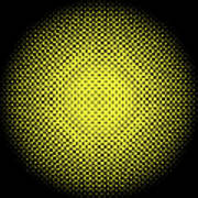 Optical Illusion - Yellow On Black Art Print