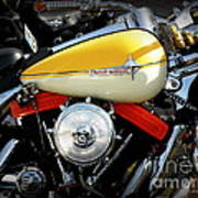 Yellow Harley Art Print by Lainie Wrightson
