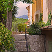 Yellow House In Eze France Art Print