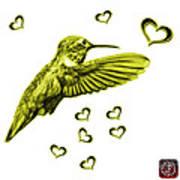 Yellow Hummingbird - 2055 F S M Art Print