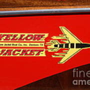 Yellow Jacket Outboard Boat Art Print