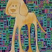 Yellow Lab Pup Art Print