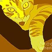 Yellow Lick Art Print
