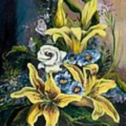 Yellow Lillies Art Print