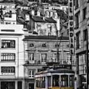 Yellow Lisbon Trolley Art Print