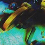 Yellow Machine Art Print