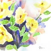 Yellow Magnolias Art Print