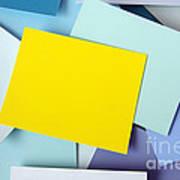 Yellow Memo Art Print by Carlos Caetano