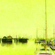Yellow Mooring Art Print