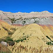 Yellow Mounds Badlands National Park Art Print